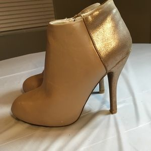 Maurices Tiana Bootie Cream and Shimmery Gold